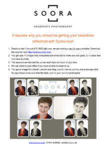 5 reasons why you should be getting your headshots refreshed with Soora now copy